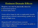 eminent domain effects