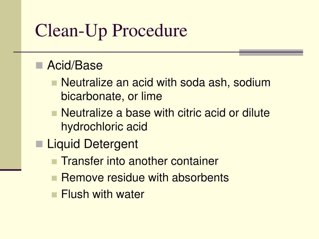 Clean-Up Procedure