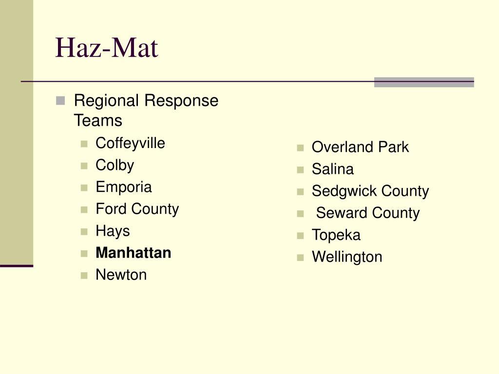 Regional Response Teams