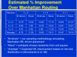 estimated improvement over manhattan routing