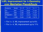 wl improvement for geometry over manhattan place route