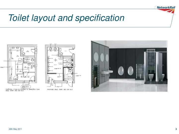 Toilet layout and specification