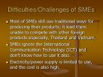 difficulties challenges of smes