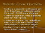 general overview of cambodia