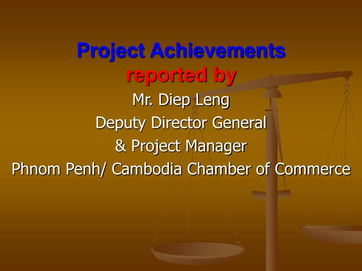 project achievements reported by n.