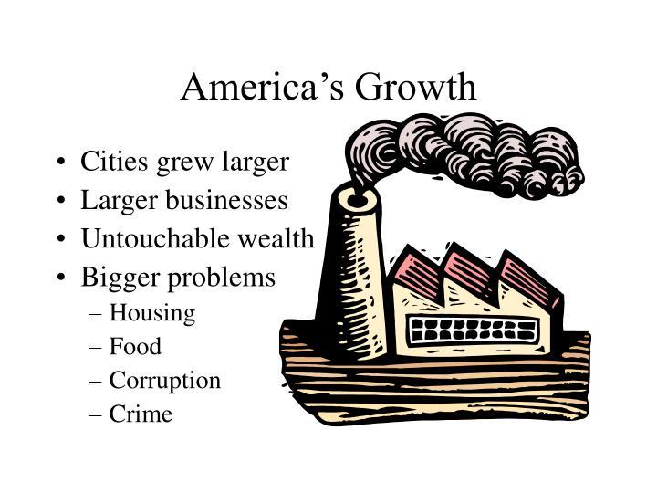 America s growth
