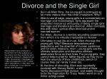 divorce and the single girl