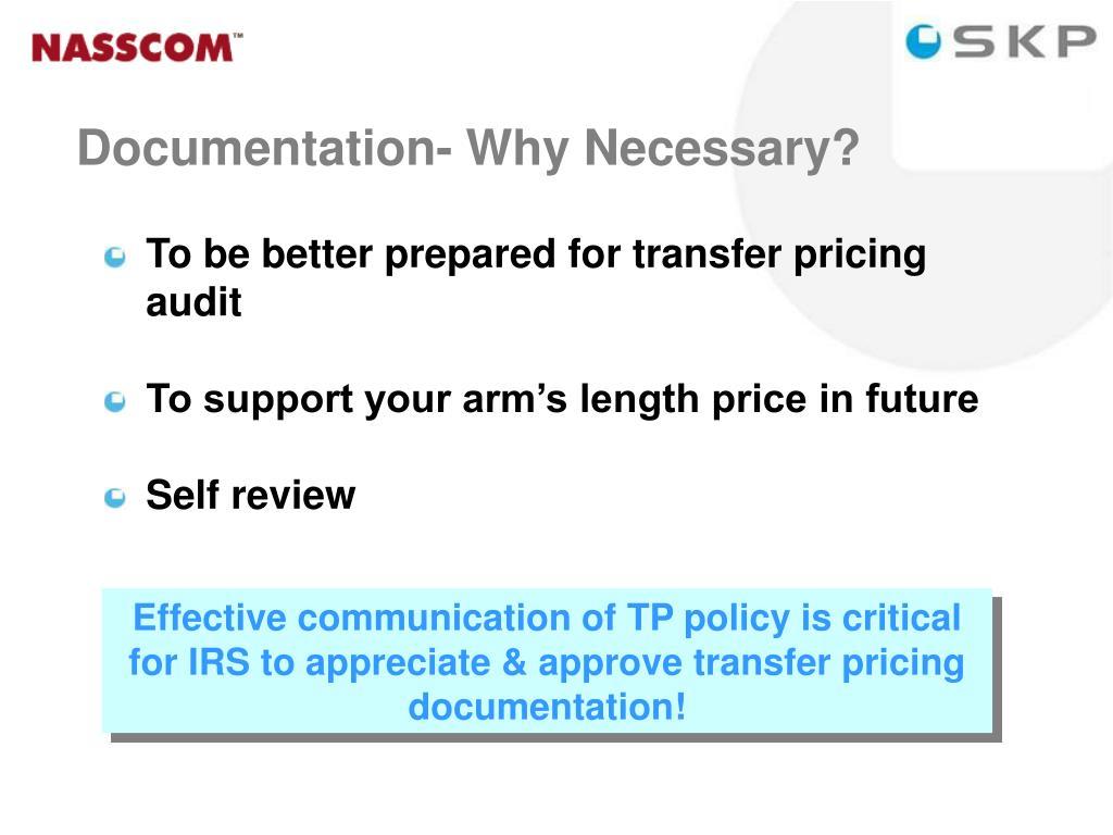 Documentation- Why Necessary?