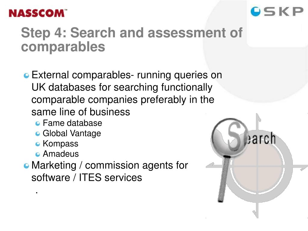 External comparables- running queries on UK databases for searching functionally comparable companies preferably in the same line of business