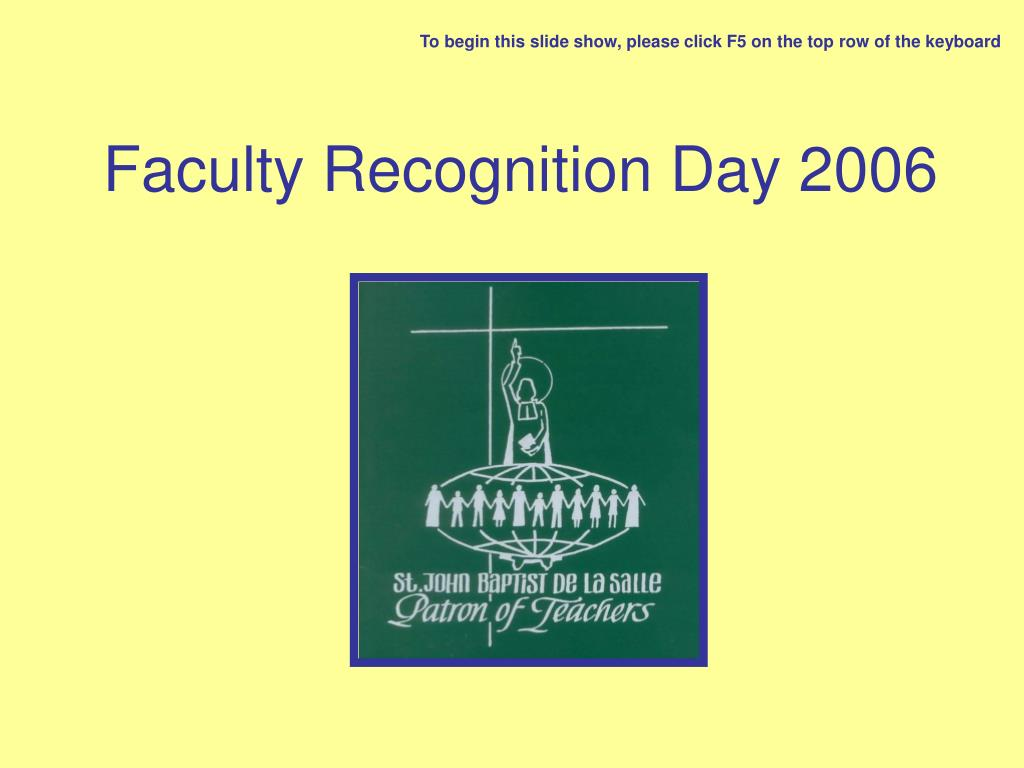 faculty recognition day 2006 l.