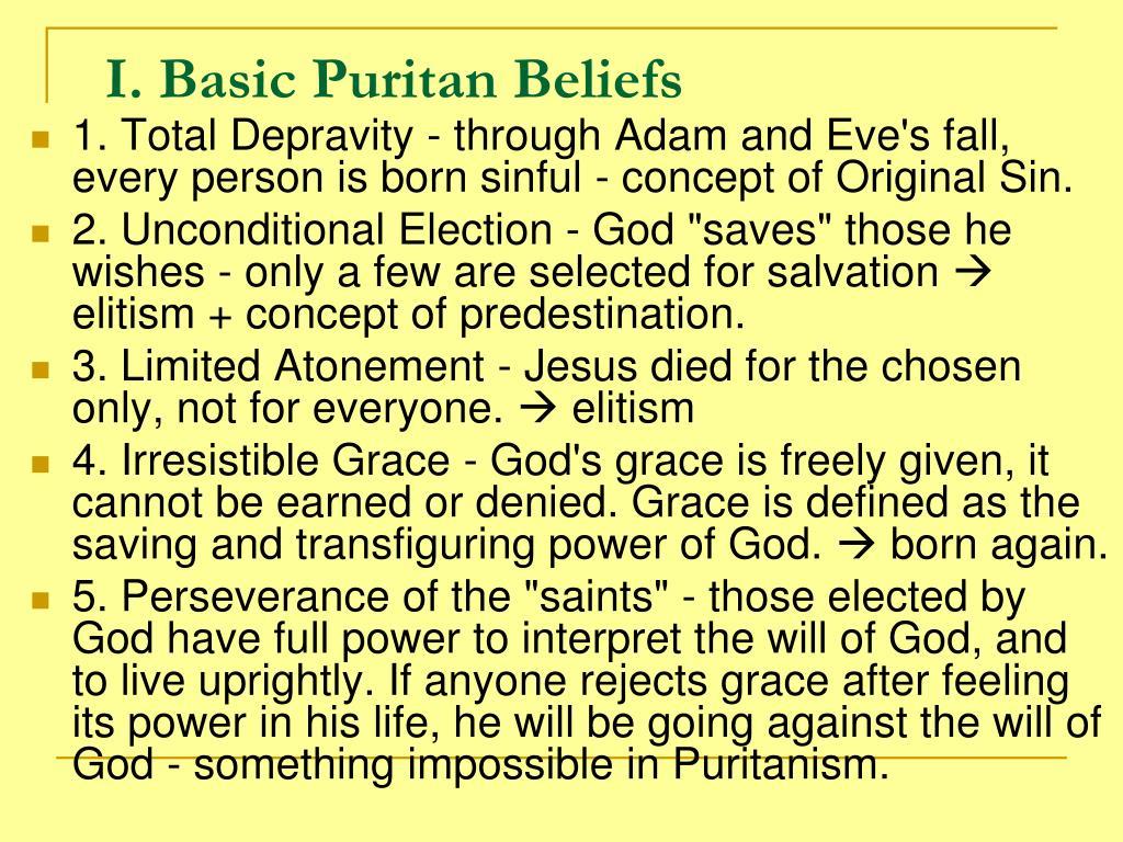 puritan belief