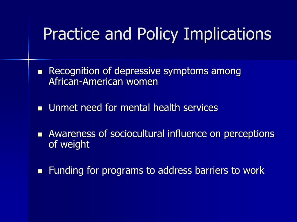 Practice and Policy Implications