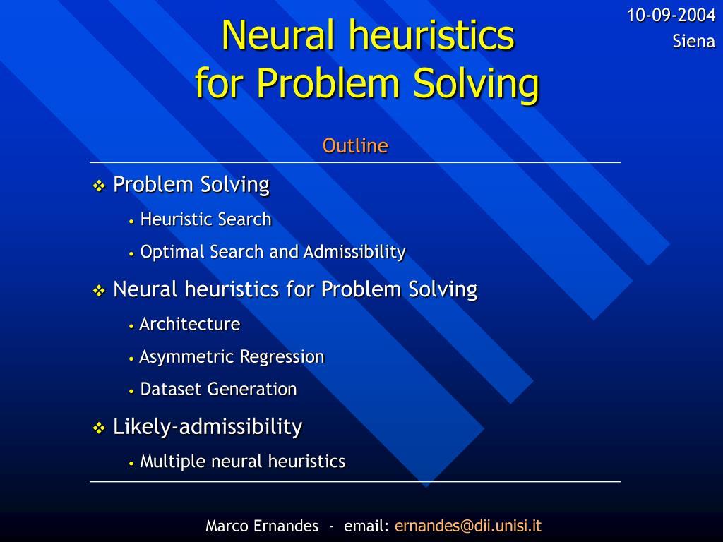neural heuristics for problem solving l.