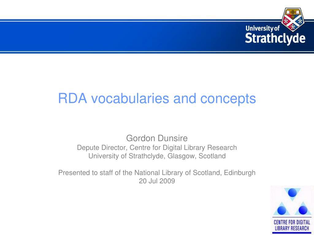 rda vocabularies and concepts l.