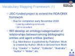 vocabulary mapping framework 1