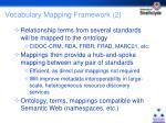vocabulary mapping framework 2
