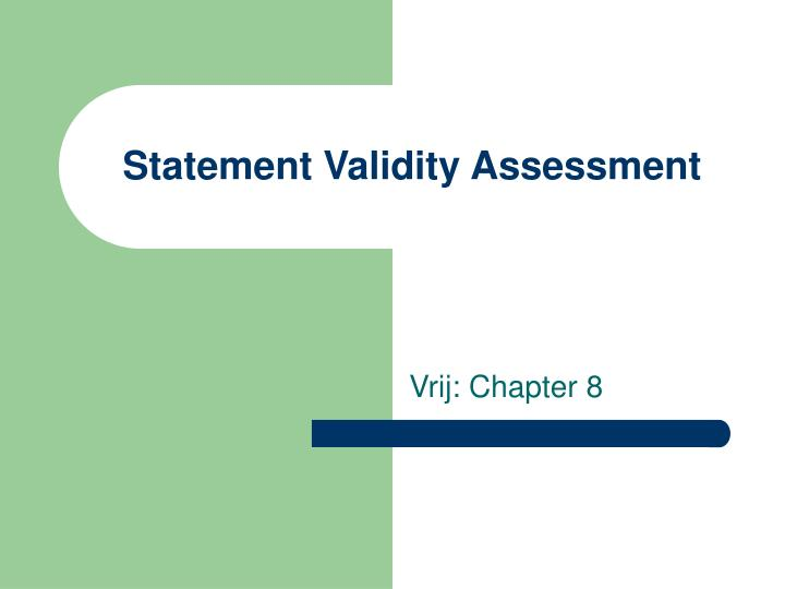 statement validity assessment n.