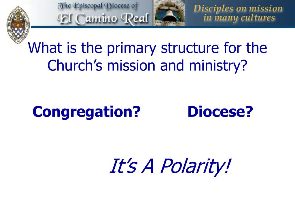 What is the primary structure for the Church's mission and ministry?