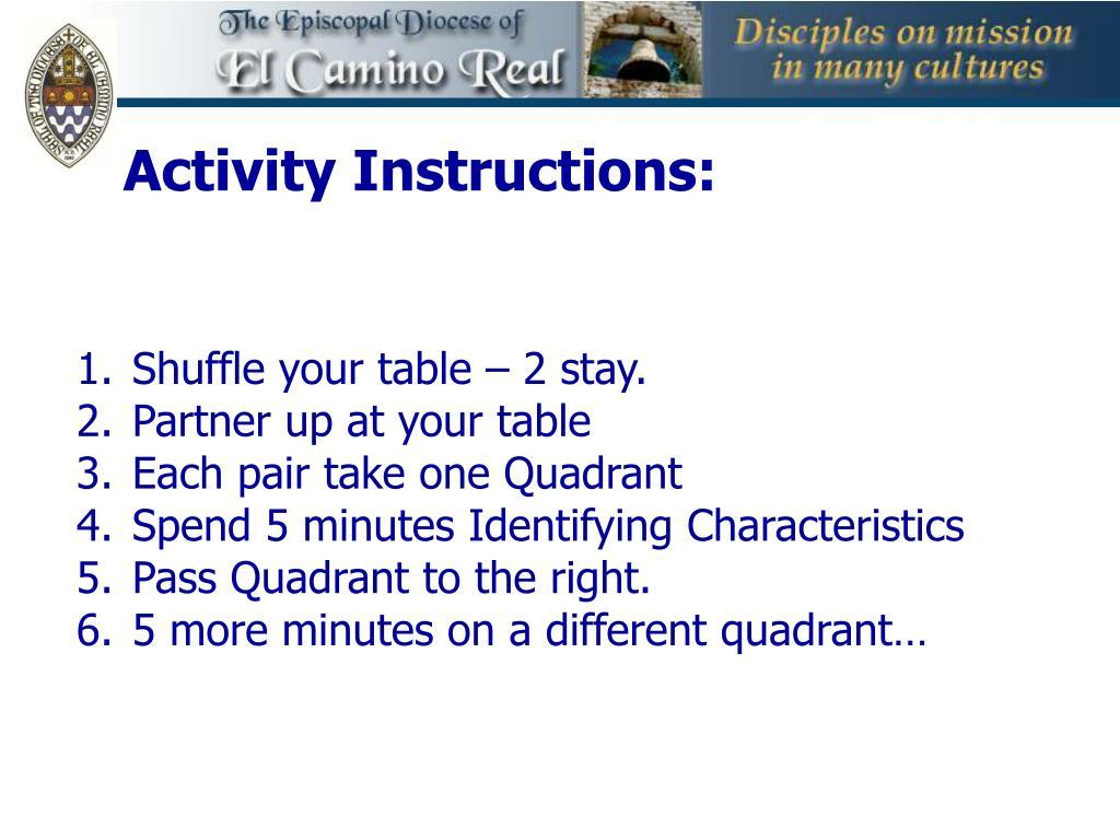 Activity Instructions: