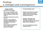 findings 6 linkages and convergences