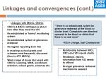 linkages and convergences cont