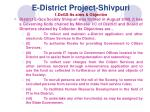 e district project shivpuri 1 degs its aims objective
