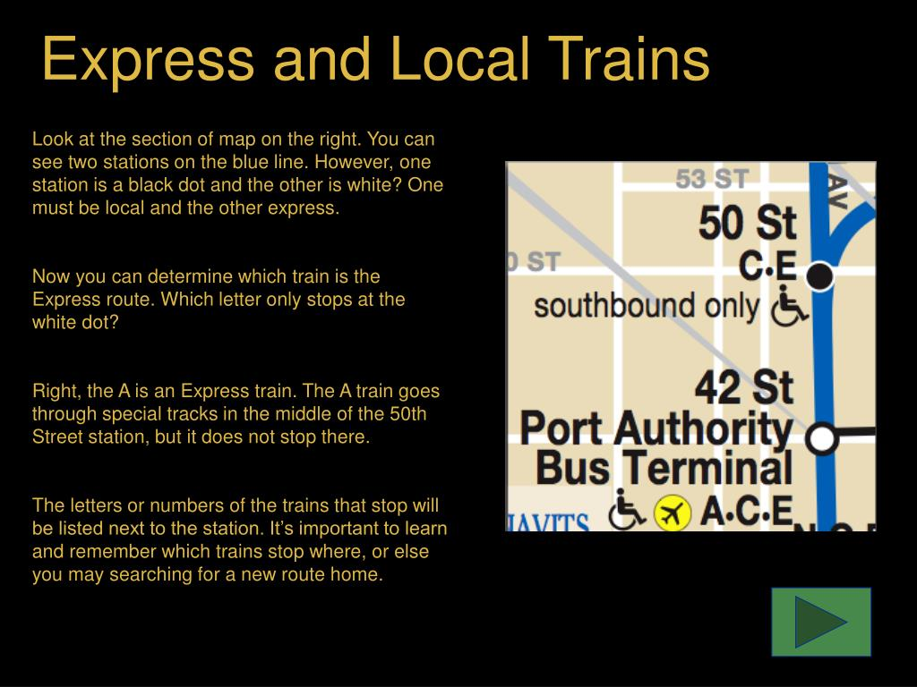 Express and Local Trains