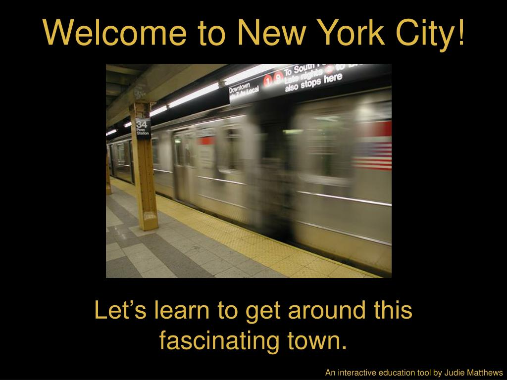 welcome to new york city l.
