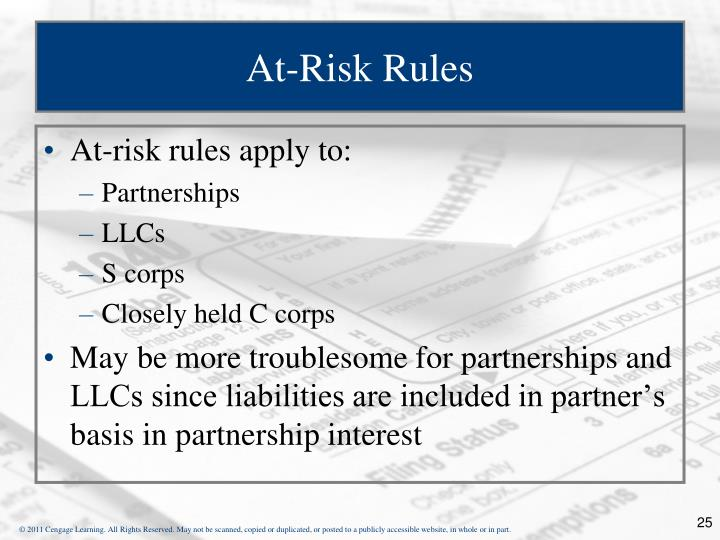 At-Risk Rules