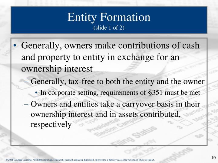 Entity Formation