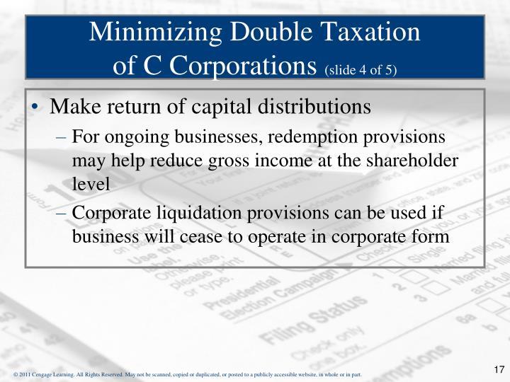 Minimizing Double Taxation