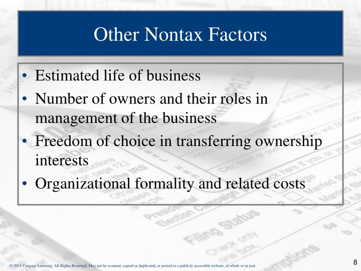 Other Nontax Factors