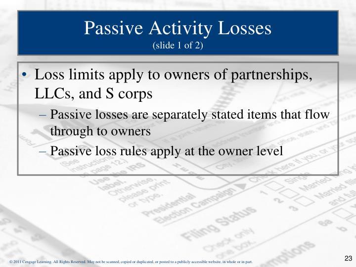 Passive Activity Losses