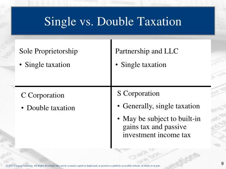 Single vs. Double Taxation