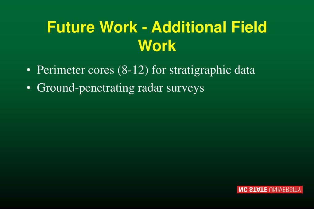 Future Work - Additional Field Work