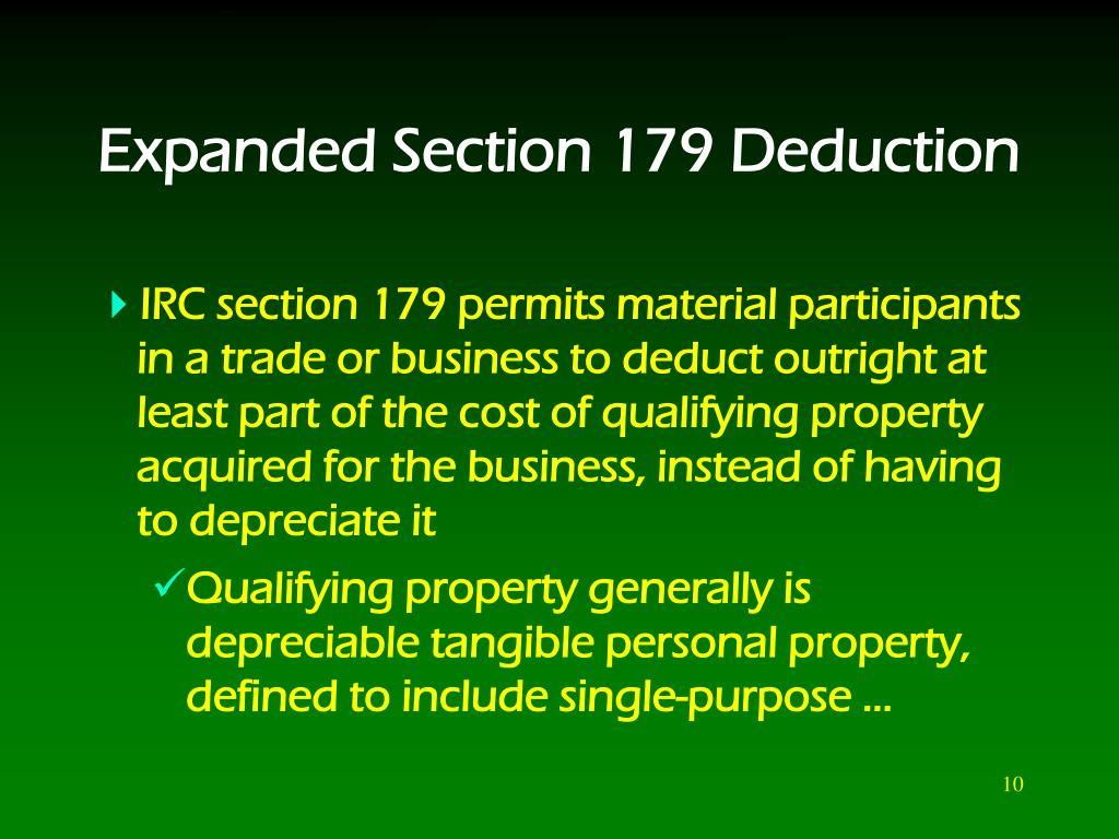 Expanded Section 179 Deduction