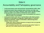 slide 8 accountability and participatory governance