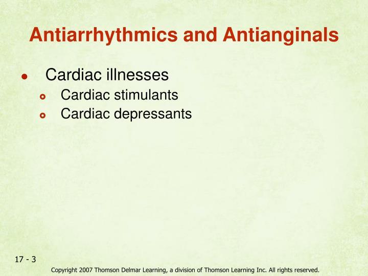 Antiarrhythmics and antianginals
