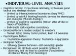 individual level analysis