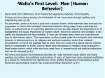 waltz s first level man human behavior