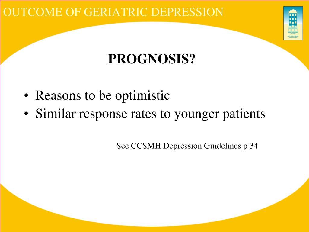 OUTCOME OF GERIATRIC DEPRESSION
