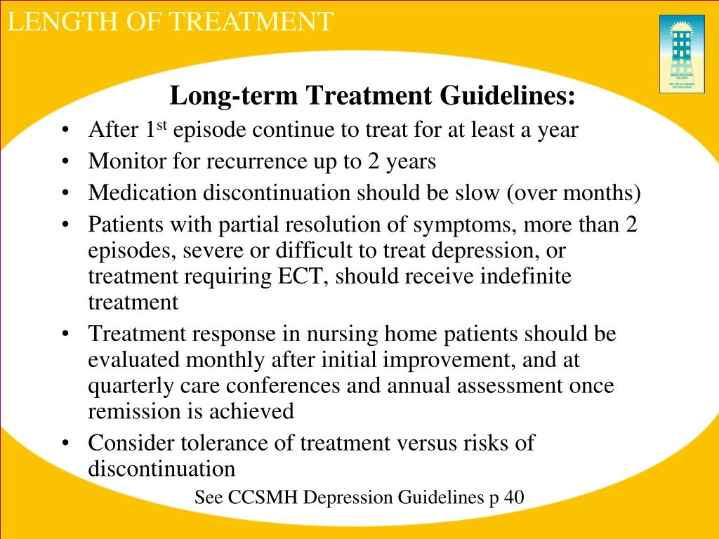 LENGTH OF TREATMENT