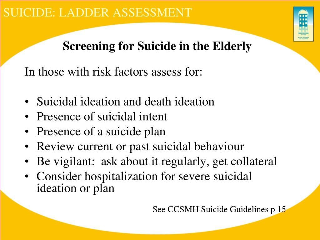 SUICIDE: LADDER ASSESSMENT