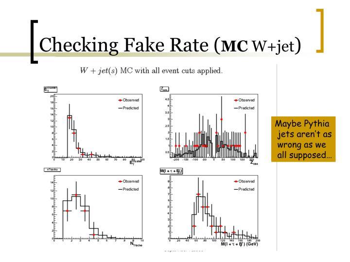 Checking Fake Rate (