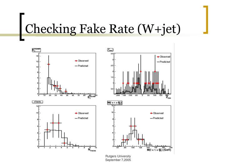 Checking Fake Rate (W+jet)