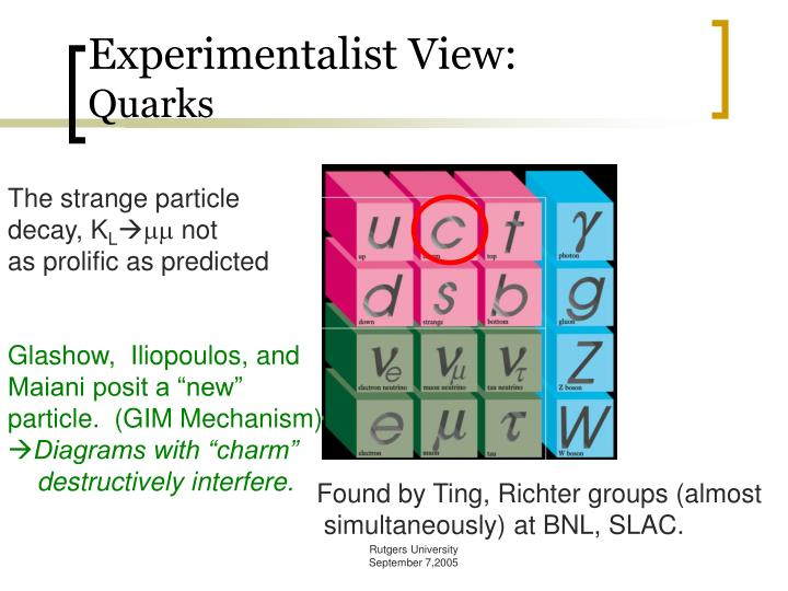 Experimentalist View: