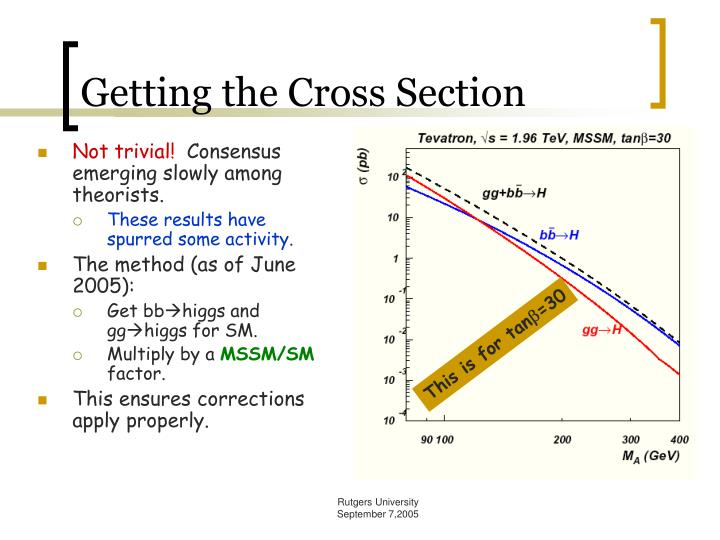 Getting the Cross Section
