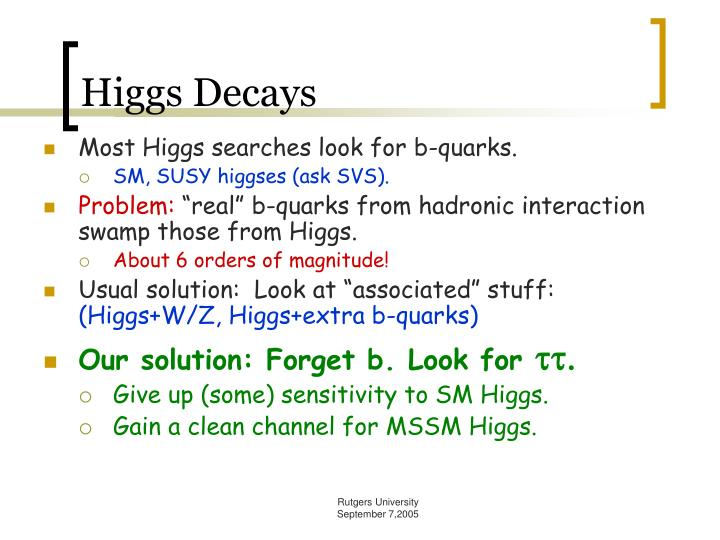 Higgs Decays