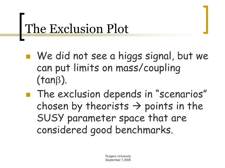 The Exclusion Plot