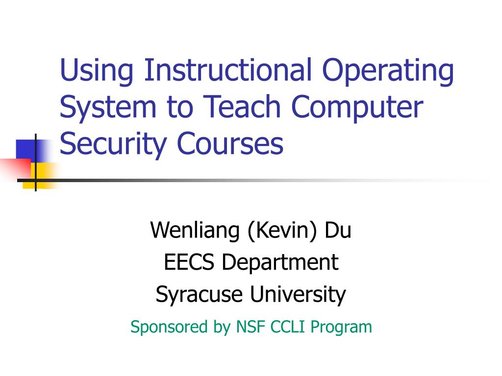 using instructional operating system to teach computer security courses l.